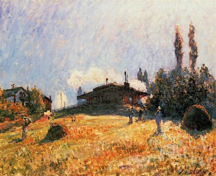 Station at Sevres, c.1879 - Alfred Sisley