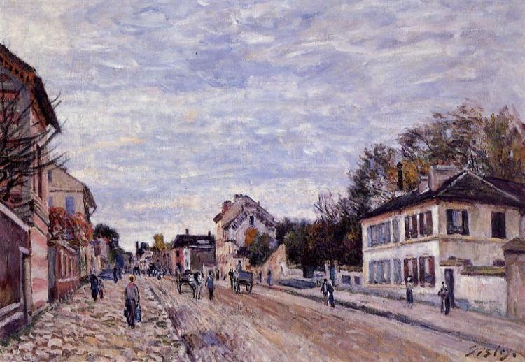 Street Scene in Marly, 1876 - Alfred Sisley