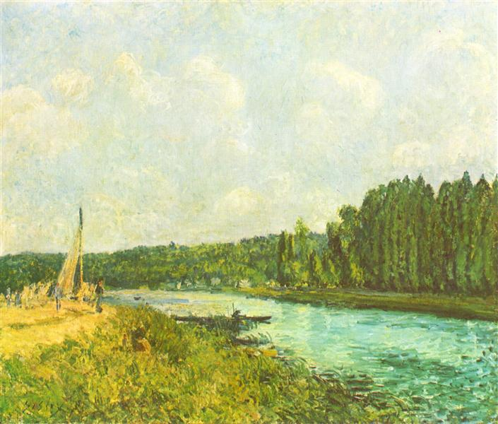 The Banks of the Oise, 1877 - 1878 - Alfred Sisley