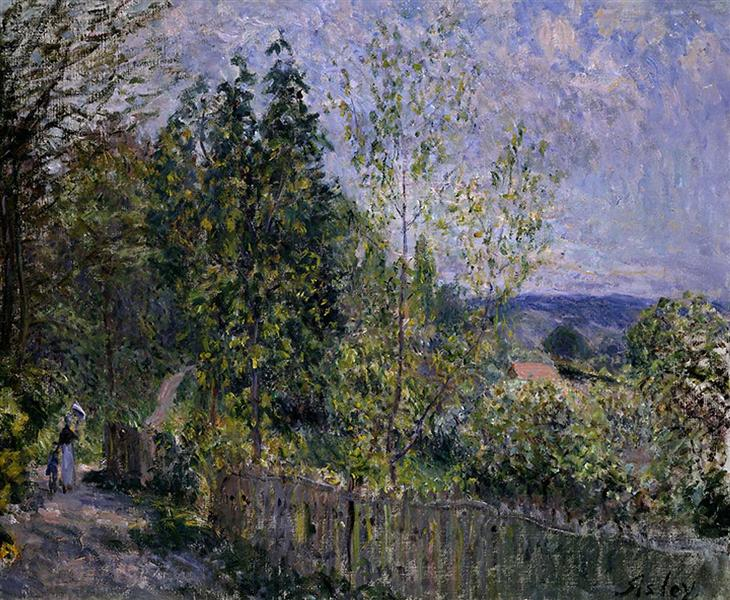 The Road in the Woods, 1879 - Alfred Sisley