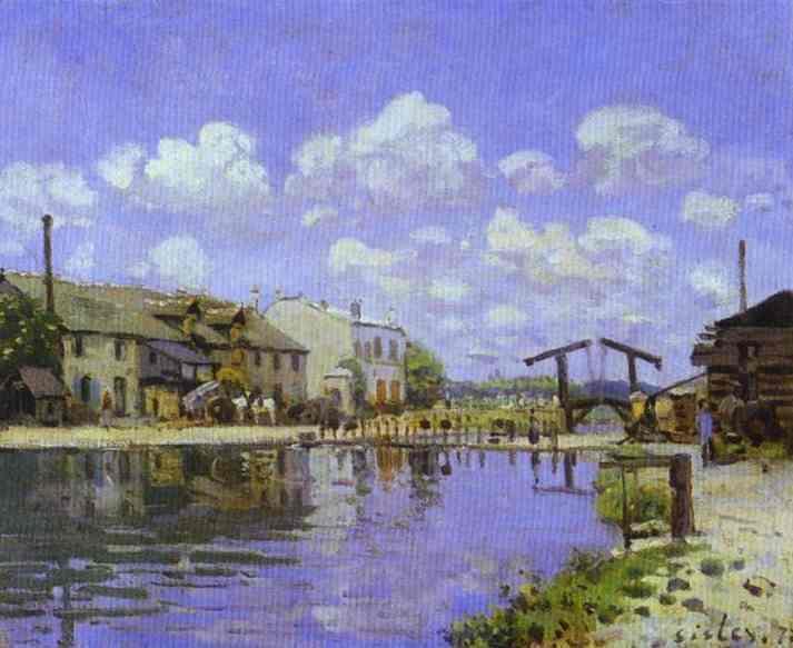 The Saint Martin Canal, 1872 - Alfred Sisley