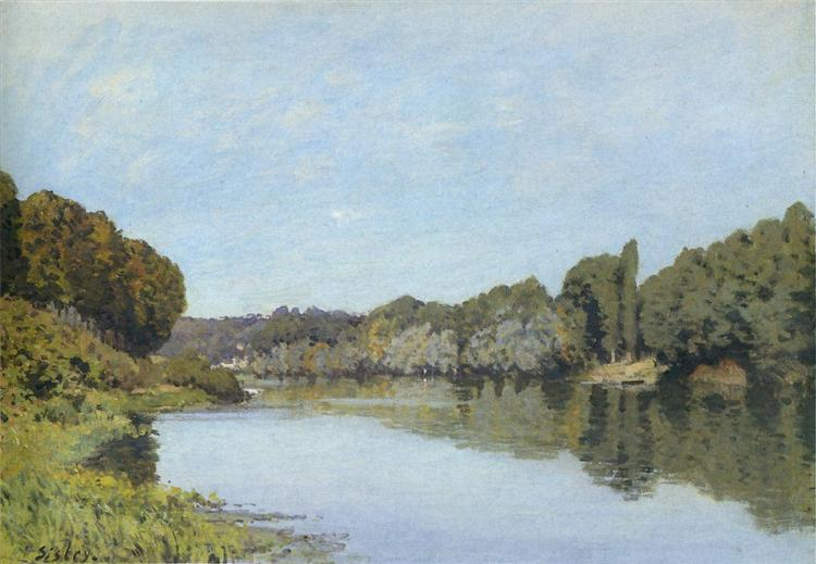 The Seine at Bougival, 1873 - Alfred Sisley