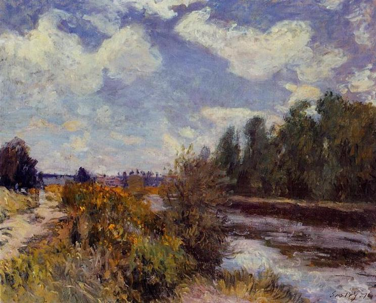 The Seine at Bougival, 1876 - Alfred Sisley