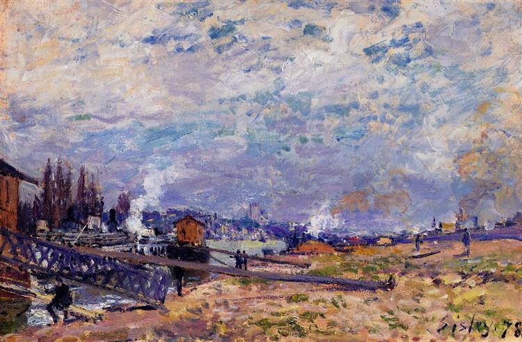 The Seine at Grenelle, 1878 - Alfred Sisley