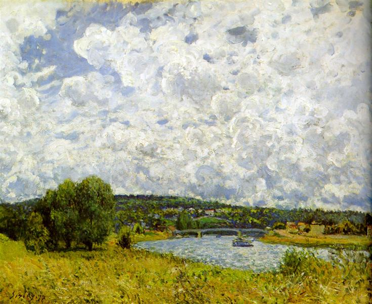 The Seine at Suresnes, 1877 - Alfred Sisley
