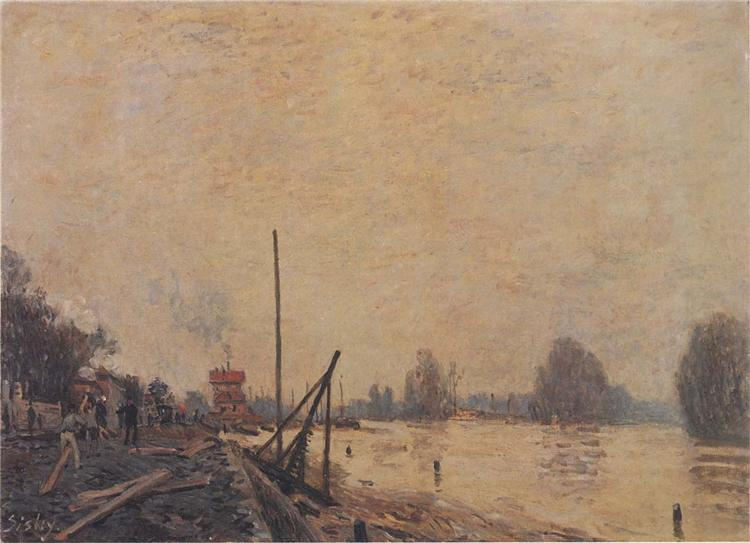 The Seine at Suresnes, 1880 - Alfred Sisley