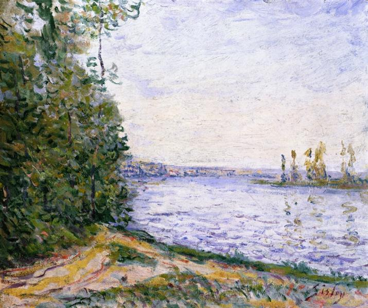The Seine near By - Alfred Sisley