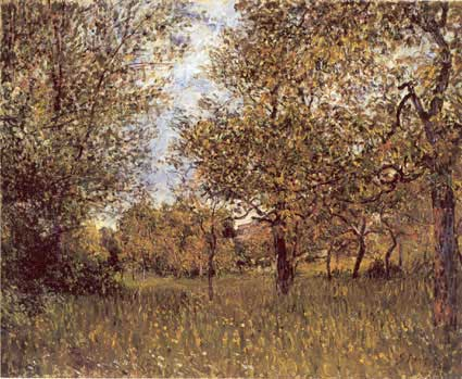 The Small Meadow at By, 1881 - Alfred Sisley