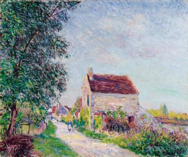 ThevillageofSablons, 1885 - Alfred Sisley