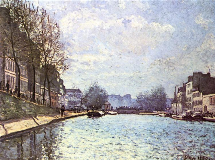 Viewof theCanal SaintMartin, 1870 - Alfred Sisley
