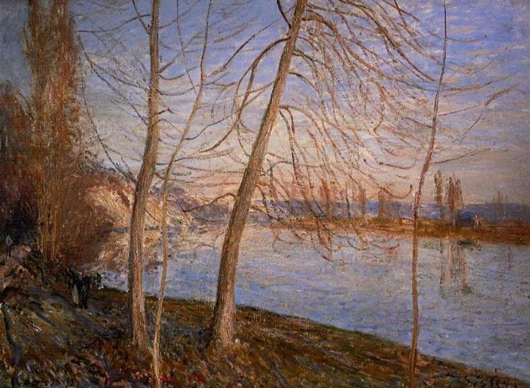 Winter Morning Veneux, 1881 - Alfred Sisley