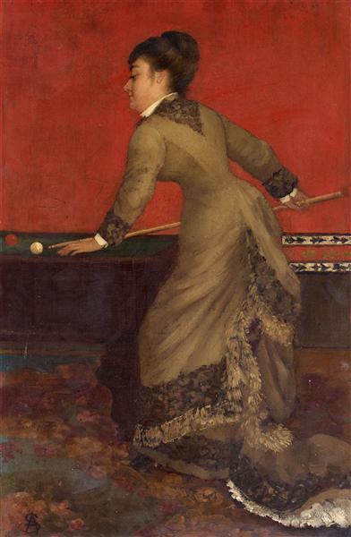 Elegant at Billiards, 1906 - Alfred Stevens