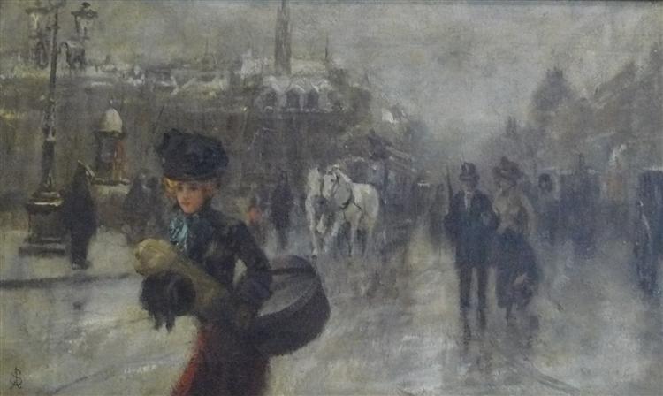 Elegant on the Boulevards, c.1888 - Alfred Stevens