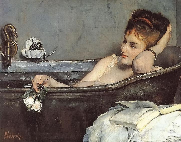 The Bath, c.1867 - Alfred Stevens