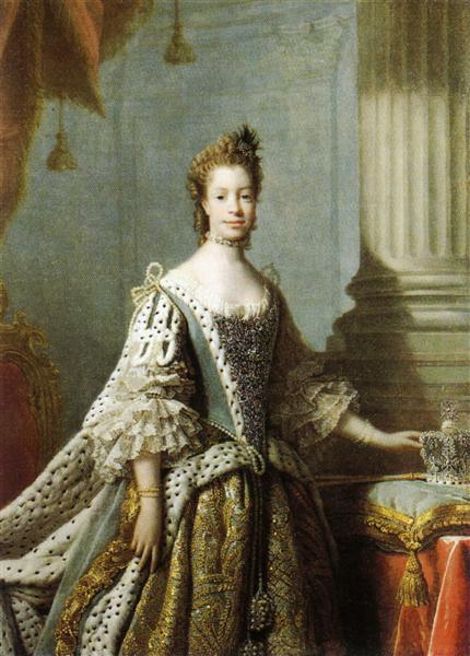 Charlotte Sophia of Mecklenburg-Strelitz, 1762 - Allan Ramsay