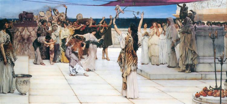 A Dedication to Bacchus, 1889 - Sir Lawrence Alma-Tadema