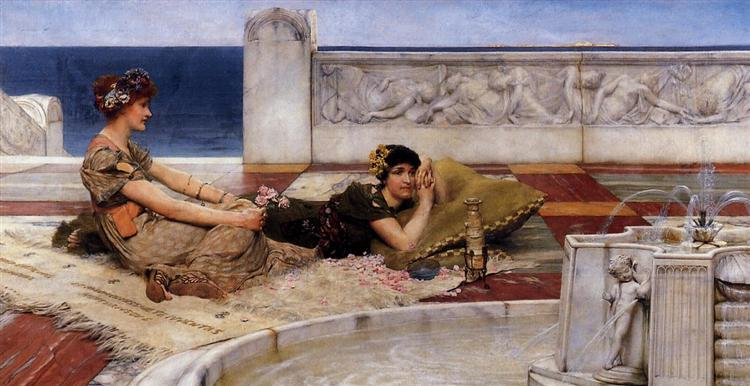 Loves Votaries, 1891 - Sir Lawrence Alma-Tadema