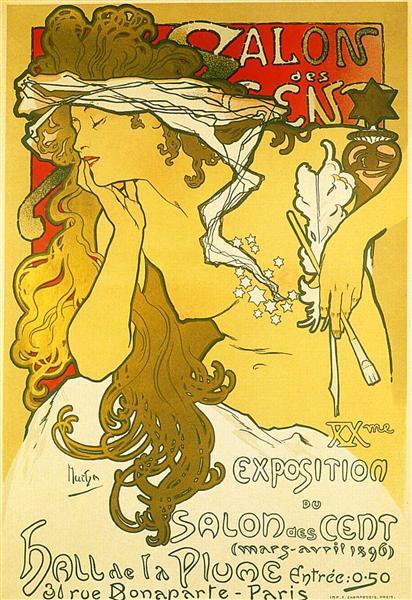 Salon of the Hundred - Alphonse Mucha