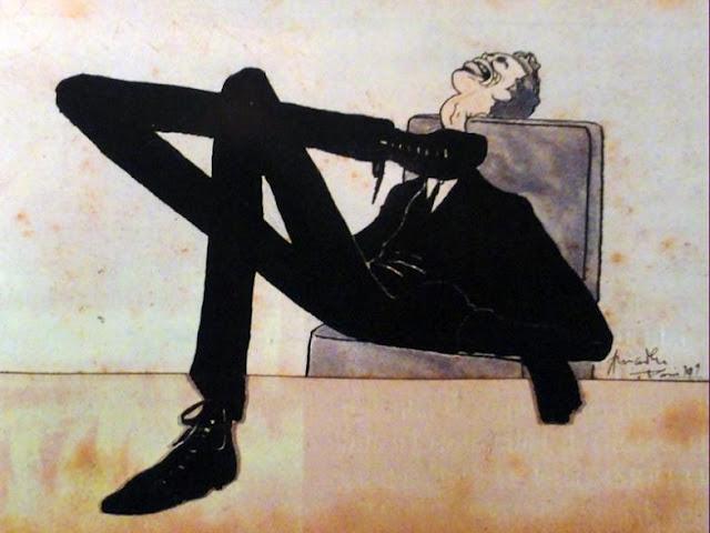 Caricature of the artist Emmerico Nunes, 1909 - Amadeo de Souza-Cardoso