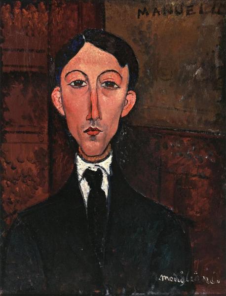 Bust of Manuel Humbert, c.1916 - Amedeo Modigliani