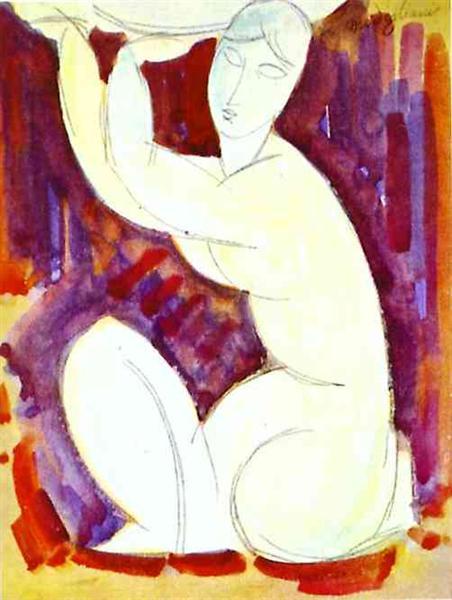 Caryatid, 1913 - Amedeo Modigliani