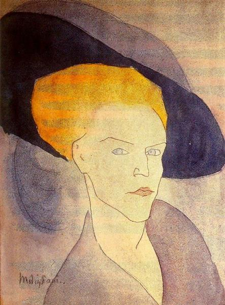 Head of a Woman with a Hat, 1907 - Amedeo Modigliani