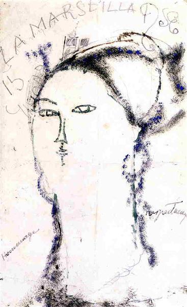 Madame Othon Friesz, La Marseillaise, 1915 - Amedeo Modigliani