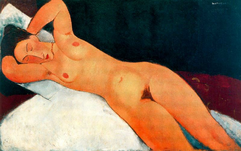 Amedeo Modigliani, Nude With Necklace, ...