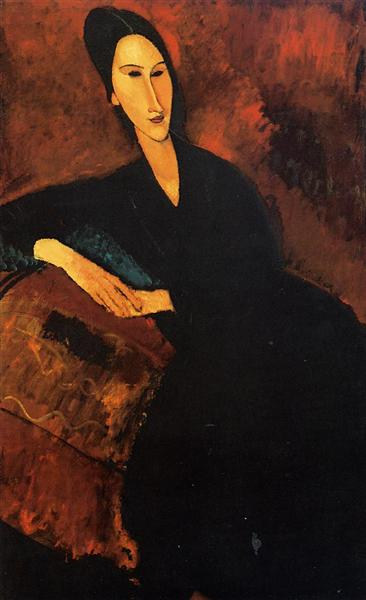 Portrait of Anna Zborowska, 1917 - Amedeo Modigliani