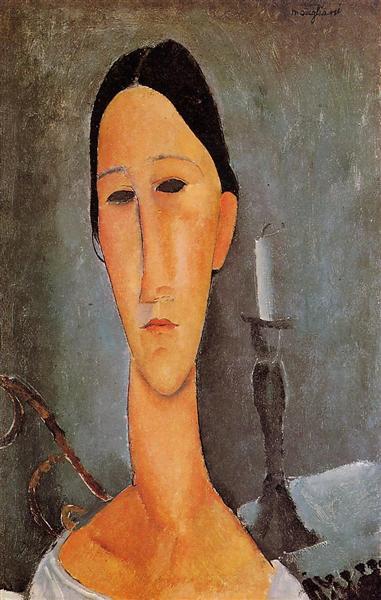 Portrait of Anna Zborowska, 1919 - Amedeo Modigliani