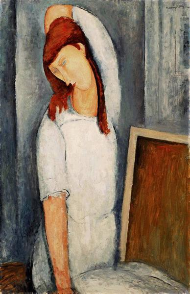 Portrait of Jeanne Hebuterne with her Left Arm Behind her Head, 1919 - Amedeo Modigliani
