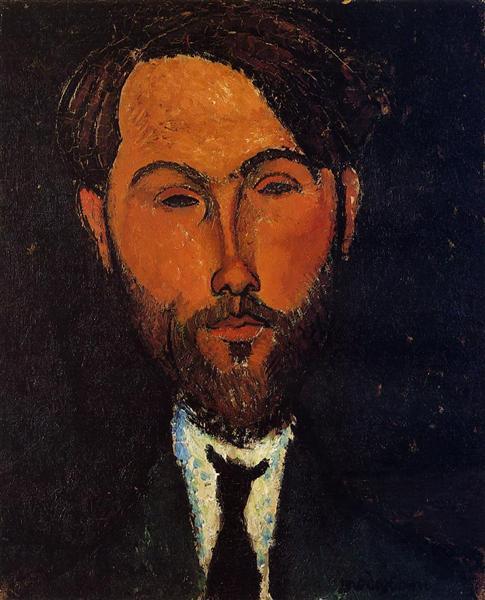 Portrait of Leopold Zborowski, c.1917 - Amedeo Modigliani