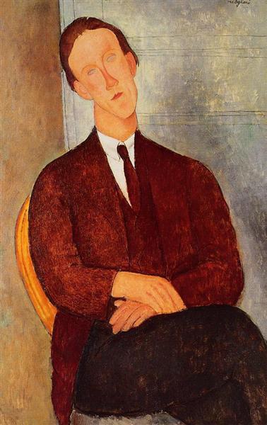 Portrait of Morgan Russell, 1918 - Amedeo Modigliani