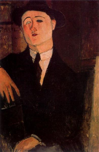 Portrait of Paul Guillaume, 1916 - Amedeo Modigliani