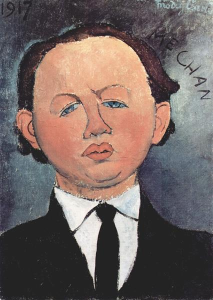 Portrait of the Mechanical, 1917 - Amedeo Modigliani
