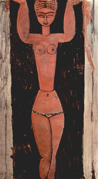 Standing Caryatid, 1913 - Amedeo Modigliani