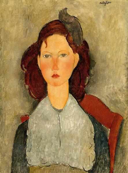 Young Girl Seated, 1918 - Amedeo Modigliani