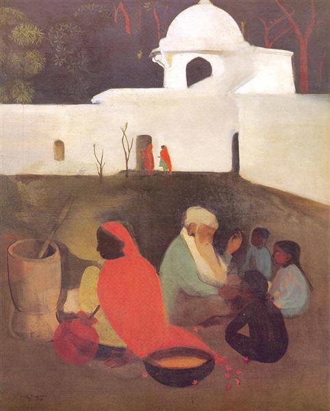 Ancient Storyteller, 1940 - Амрита Шер-Гил