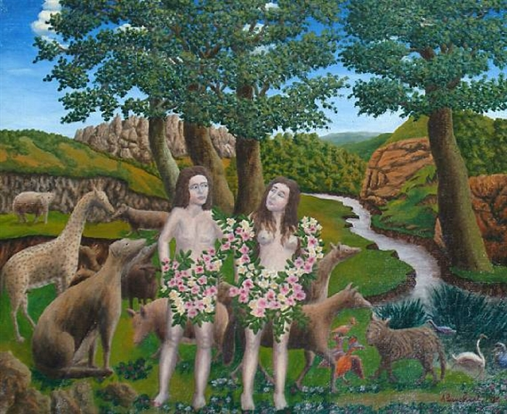 Adam and Eve, 1938 - Andre Bauchant
