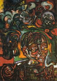 Portrait of an American teenager in the forest, 1943 - Andre Masson