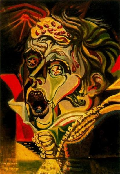 Portrait of the poet Kleist, 1939 - Andre Masson