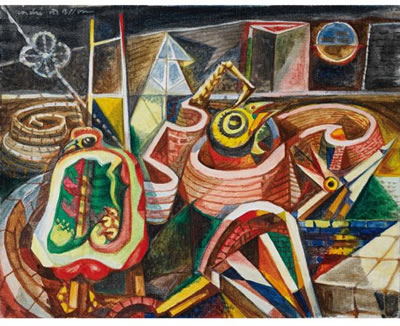Yard birds, 1941 - André Masson