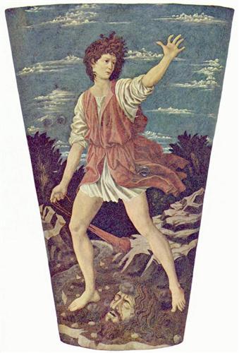 David with the Head of Goliath - Andrea del Castagno