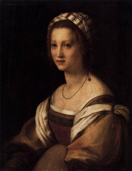 Lucrezia di Baccio del Fede, the Artist's Wife, 1513 - 1514 - Andrea del Sarto
