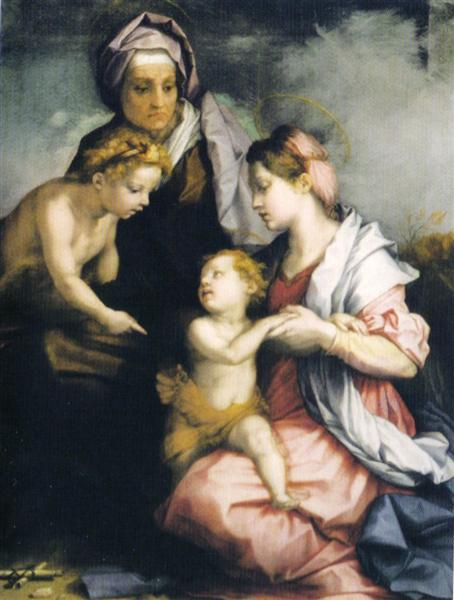 Madonna and Child with St. Elizabeth and St. John the Baptist, c.1529 - Andrea del Sarto