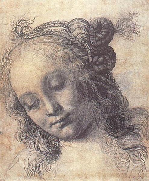 Woman Looking Down, c.1470 - Андреа Верроккьо
