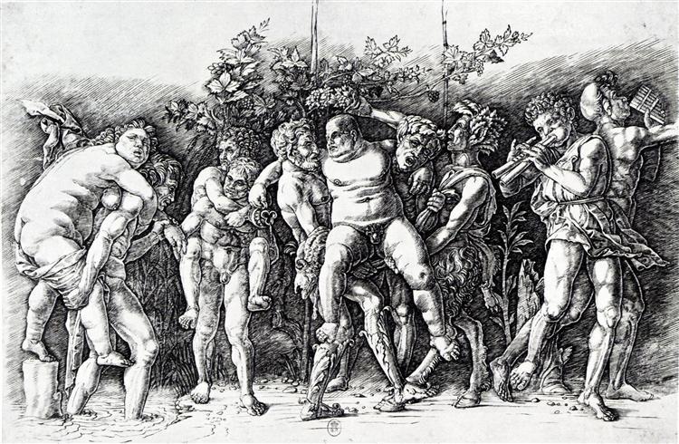Bacchanal in Silene, 1480 - Andrea Mantegna