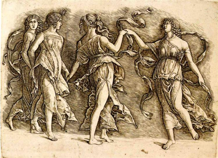 Four Muses, 1497 - Andrea Mantegna