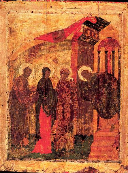 Presentation of Jesus at the Temple, c.1410 - Andrei Rubljow