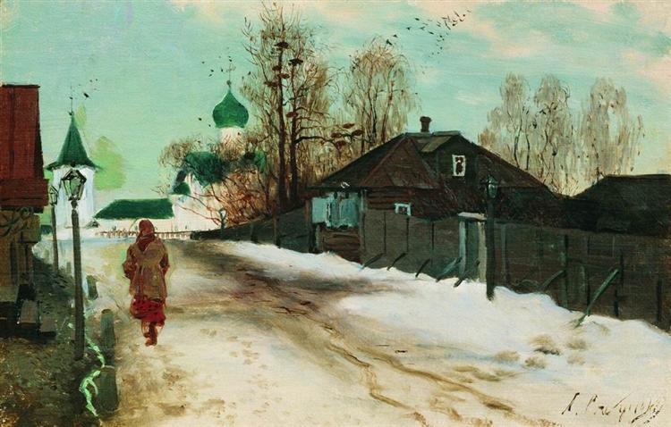 Mikhailovsky Street in Novgorod, 1899 - Andrei Ryabushkin